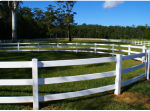 Polvin 3 Rail Roundyard Fence in White