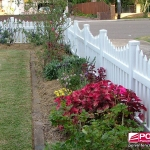 Sierra Picket Fence in White