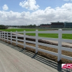 Polvin 4 Rail Fence in White
