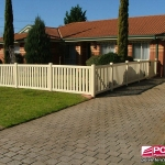 Windsor Picket Fence in Ivory