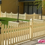 Polvin PVC Homestead Picket Fence