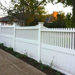 Polvin Full Privacy with Homestead Picket Top Fencing in White