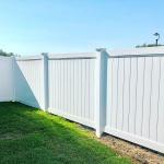 Polvin White Full Privacy Fencing