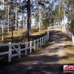 Polvin 2 Rail Fence in White
