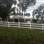 Polvin 3 Rail Fence in White