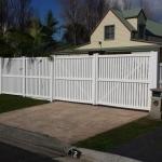 Polvin Semi Privacy Fencing in White