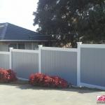 Polvin Full Privacy Fencing in White & Grey