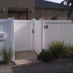 Polvin Full Privacy Fencing in White