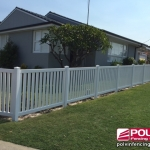 Windsor Picket Fence in White