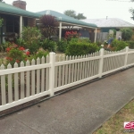 Sierra Picket Fence in Ivory & Almond