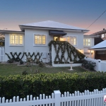 Custom Designed Picket Fence in White