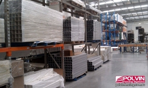 Polvin Fencing Factory Inside