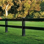 Polvin PVC Post and Rail Fence