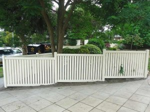 1.2m high Semi-Privacy Fence