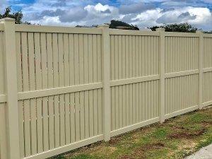 1.8m high Almond Semi-Privacy Fence