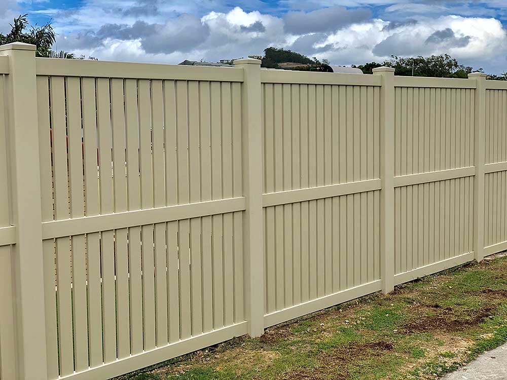 1.8m high Almond Semi-Privacy Fence