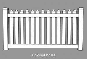 Colonial Picket Fencing