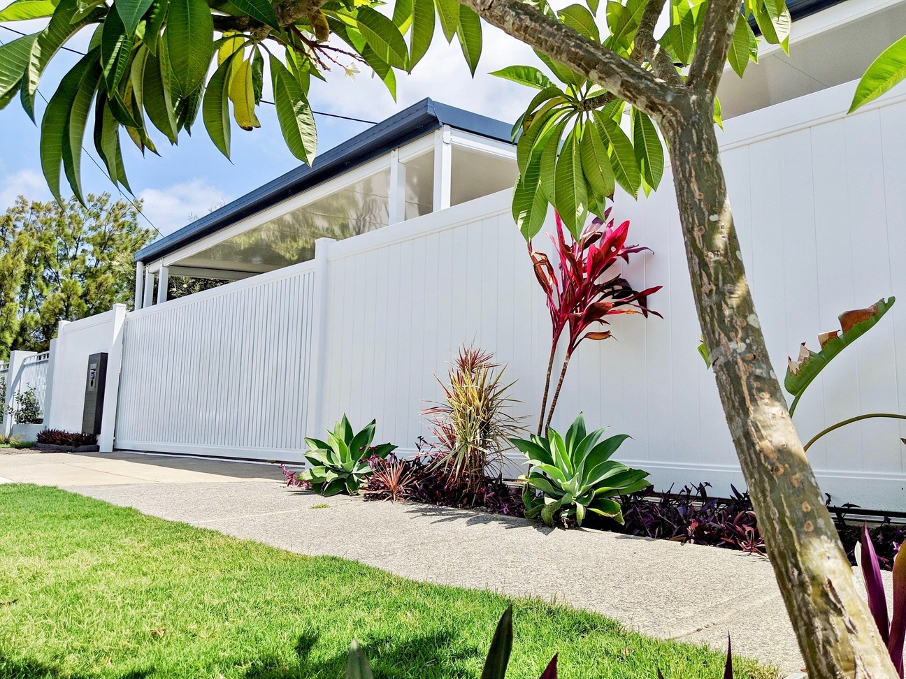 Full Privacy Fencing and Semi Privacy Sliding Gate