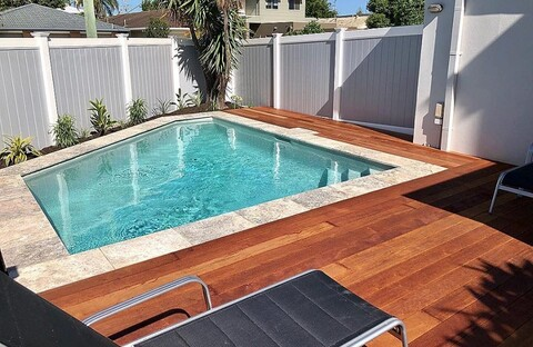 Full Privacy - Grey _ White Pool Fencing