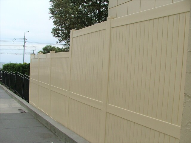 Full Privacy - Stepped Almond Fencing