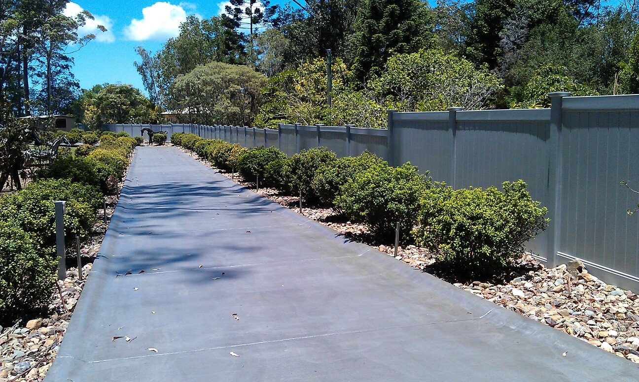 Full Privacy - Stepped Grey Fencing