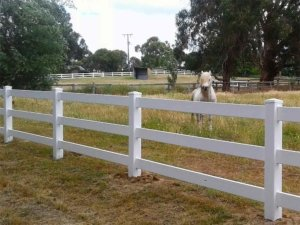 Llewy's new 3-Rail Post and Rail Fencing