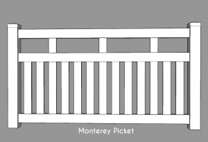Monterey Picket Fence