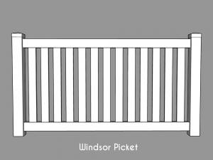 Windsor Picket Fencing
