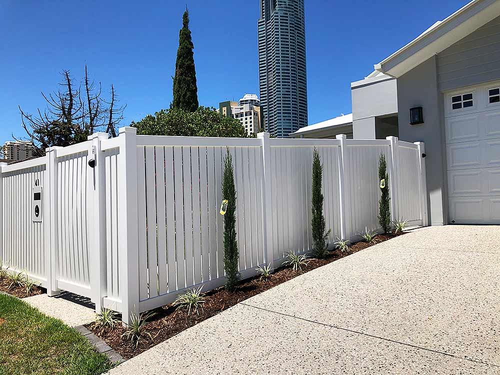 1.2m high Semi-Privacy Fence (custom 40mm spacings)