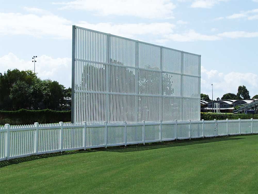 Permanent Sight Screen & Picket Fence Cricket Oval